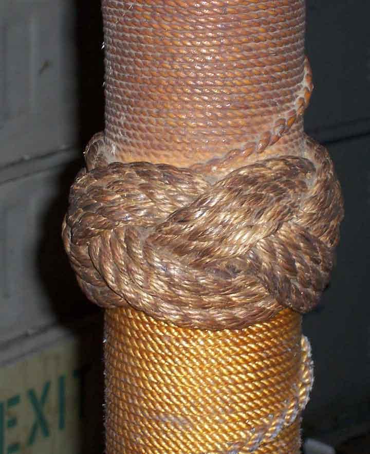 Basement Pole Knot/Wrap